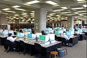 View of the computers in the Reference Area
