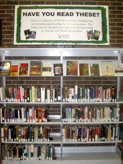 View of the Outstanding Book Collection in the Schwartz Library