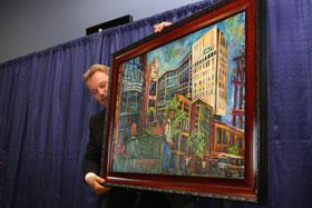 Tony Bakale unveils the gift