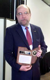 Bill Barrow with SOA Award