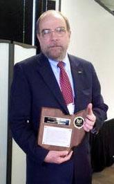 Bill Barrow with SOA Award