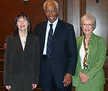 Theresa Nawalaniec, Guy Bluford and Glenda Thornton