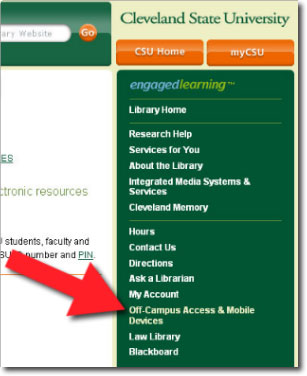 Screen shot of link to mobile devices