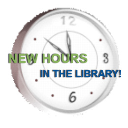 New hours in the Library