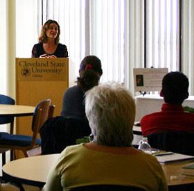 Kristin Ohlson at book talk