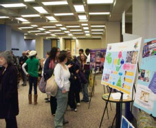 Poster day at the Michael Schwartz Library