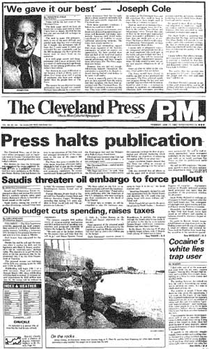 Last issue of the Press