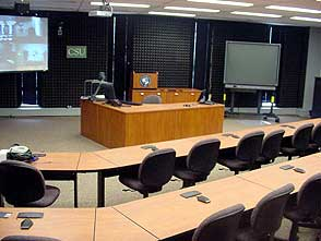 A View of an technologically enhanced classroom