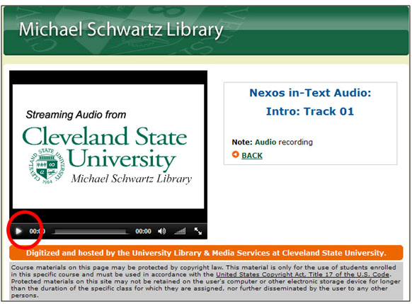 The multimedia folder includes links to streaming audio and video files