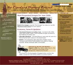 Screenshot of new Cleveland Memory website