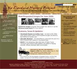 Screenshot of new Cleveland Memory website