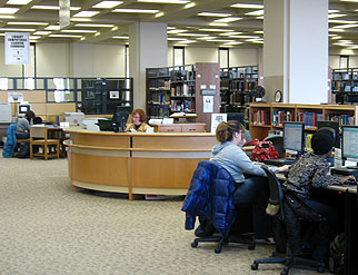 A view of the Reference Center