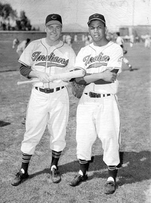 Dale Mitchell and Larry Doby