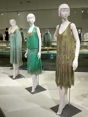 Fashions on display at the Flapper Style exhibit