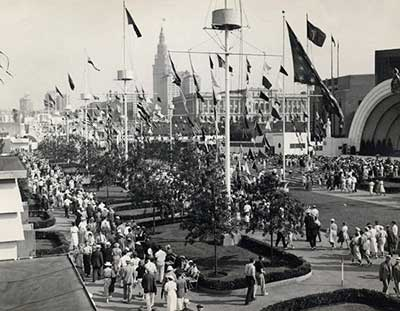 Crowds at the Great Lakes Exposition.