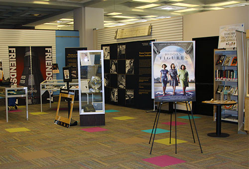 The Hidden Figures display on the Library's first floor