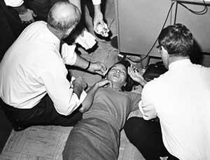 Press employee faints