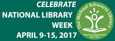 Celebrate National Library Week, April 9-15!