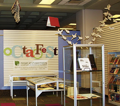 Octavofest display at the Library