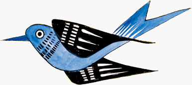 Bluebird graphic by Viktor Schreckengost