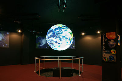 A view of the Science on a Sphere Display