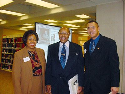 Regennia Williams, CSU History Professor, Louis Stokes  and Carl Stokes' son, Cordell
