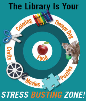 Find stress relief in the Library during finals week