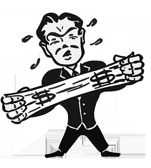 Stretch-a-Buck Cartoon Guy