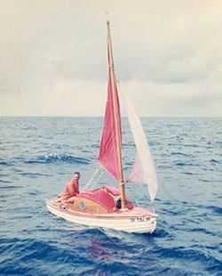 Bob Manry aboard Tinkerbelle