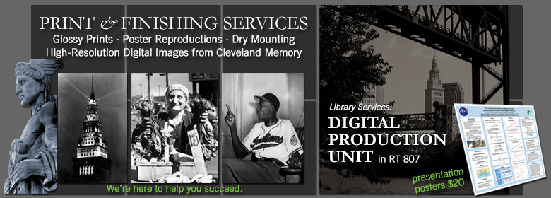 Print & reproduction services at the Digital Production Unit