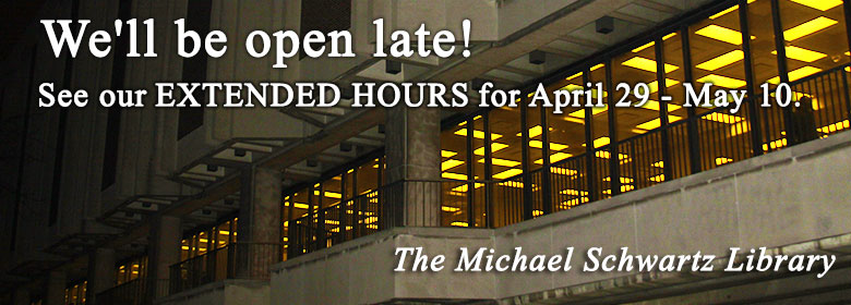 We'll be open late! See our extended hours for April 29- May 10.
