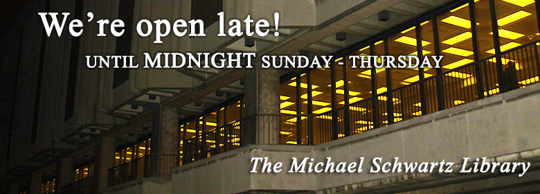 The Library will be open until midnight beginning Nov.27.