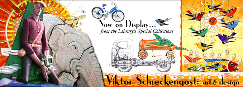 The artwork of Viktor Schreckengost is now on display in the Library