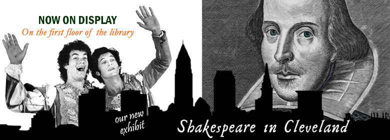 Link to information about the Shakespeare display in the Library
