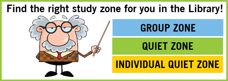 Find the right study zone for you in the Library