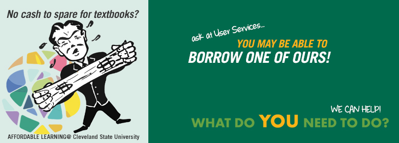 No Cash to Spare? Borrow one of our textbooks instead.