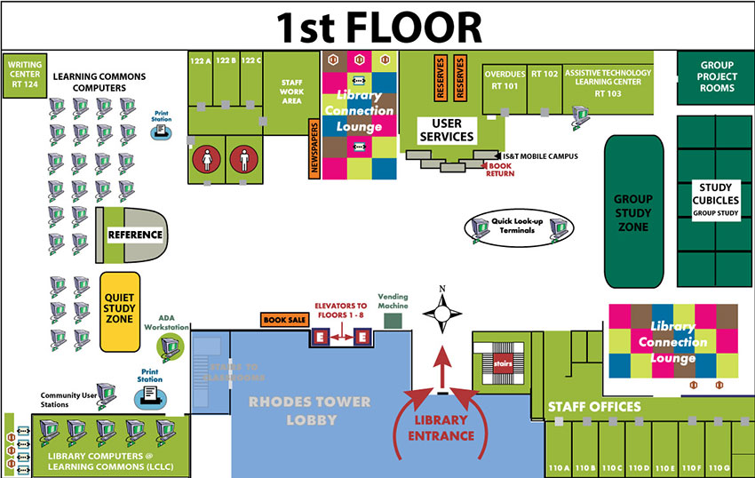 Floorplan for 1st floor