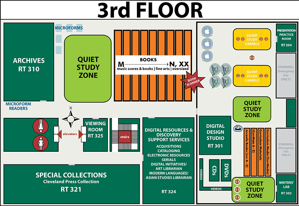 Floorplan for 3rd floor