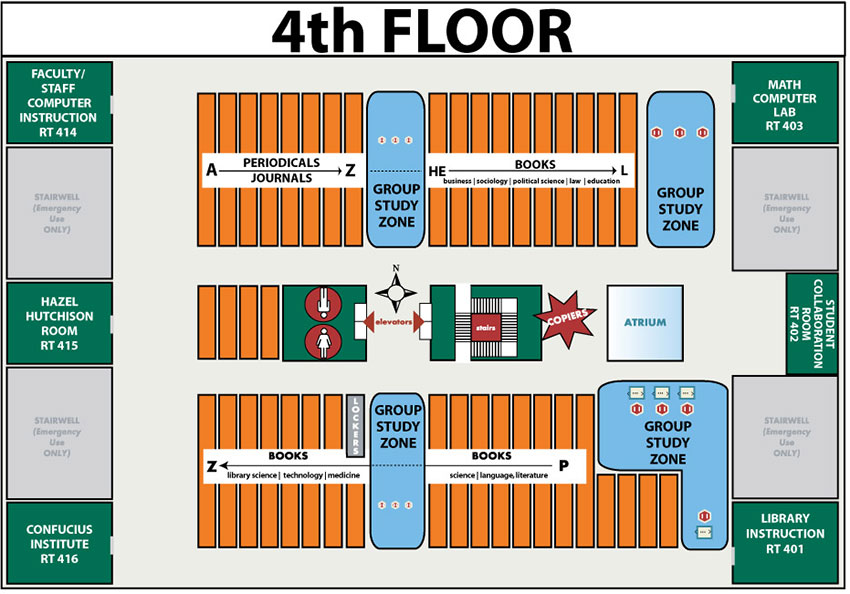 Floorplan for 4th floor