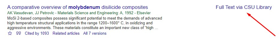 Google Scholar screenshot
