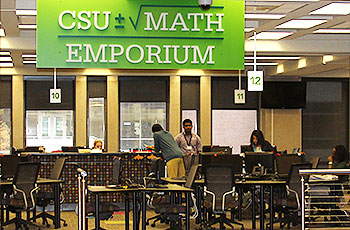 A view of the Math Emporium on the 2nd floor