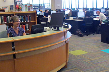 A view of the Reference Center/Learning Commons