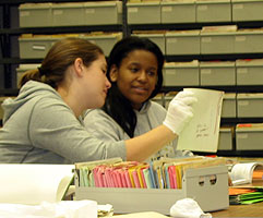 Students using Special Collections for research