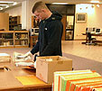 History student using Special Collections for research
